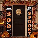 Dazonge Halloween Decorations Outdoor | Boo and Spooky Halloween Signs for Front Door or Indoor Home Decor | Porch Decorations | Halloween Welcome Signs