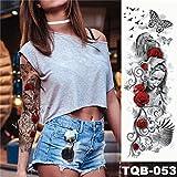 Famiglia di tatuaggi manica grande braccio tatuaggio autoadesivo impermeabile tatuaggio orologio meccanico rosa persona completa tatuaggio femmina