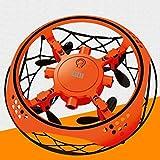 WGFGXQ Mini helicóptero Volador UFO RC Drone Avión de detección Manual con 6 Luces LED Quadcopter electrónico Juguetes flayaball para niños