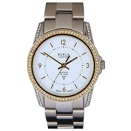 Garde (by Ruhla) Uhr Damen Funkuhr Modell FU 115-100M1 mit Glasboden