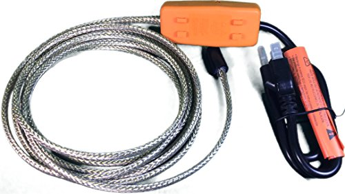 Heat Tape Easy Heat Freeze Protection Cable Waterline Heater Pre-cut to 10 Foot includes Installed Plug Head