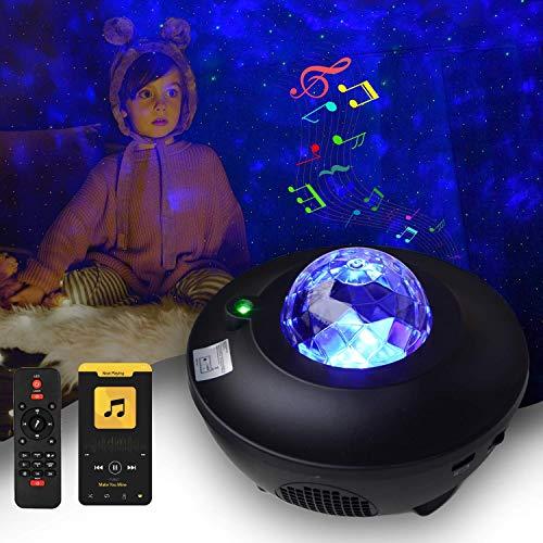 Serra Sternenhimmel Projektor LED Light - Nebu Licht Starry Music Projector mit Fernbedienung & Timer, Bluetooth Lautsprecher - Galaxy Light für Kinder & Erwachsene Zimmer Dekoration