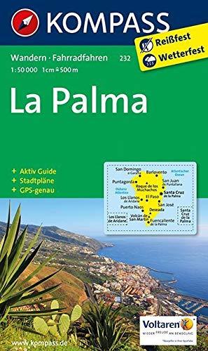 La Palma: Wanderkarte mit Aktiv Guide, Stadtplänen und Radrouten. GPS-genau. 1:50000: Wandelkaart 1:50 000 (KOMPASS-Wanderkarten, Band 232)