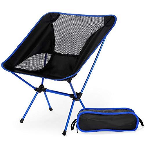 HSXQQL Klappstuhl Tragbare leichte Klapp Camping Stuhl Sitz für Outdoor Angeln Wandern Freizeit Picknick Strand Stuhl BBQ Klappstuhl, drak blau
