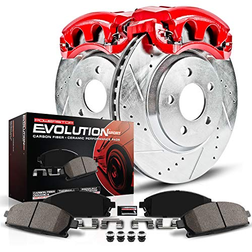 Power Stop KC2324 1-Click Performance Brake Kit with Caliper, Front Only