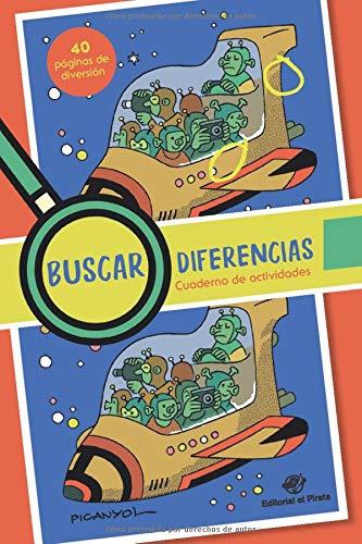 Buscar diferencias - Cuaderno de actividades: Juega a encontrar las diferencias más divertidas - Las ilustraciones se pueden pintar (Libros para buscar diferencias)