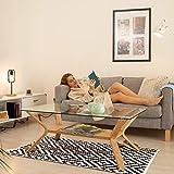 Relaxdays Teppich Baumwolle, Läufer rutschfest, Teppichläufer Flur, gewebt, Wohnzimmerteppich 120×180 cm, schwarz weiß - 2