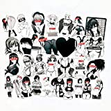 Black and White Sexy Bunny Girl Stickers for Water Bottles 30 Pcs Cute,Waterproof,Aesthetic,Trendy Stickers for Teens,Girls Perfect for Waterbottle,Laptop,Phone,Travel Extra Durable Vinyl