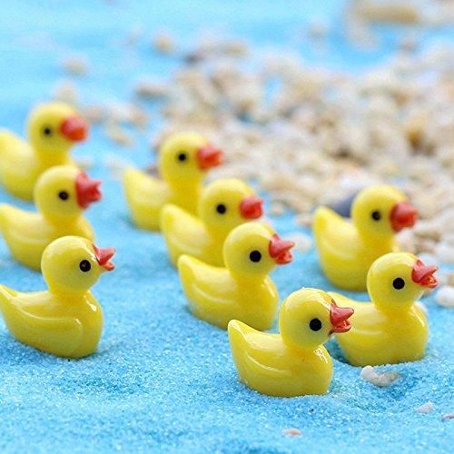 Kangkang@ 20 Pcs Mini Resin Duck Shaped Micro Garden Landscape Aquarium Ornament Decor Yellow