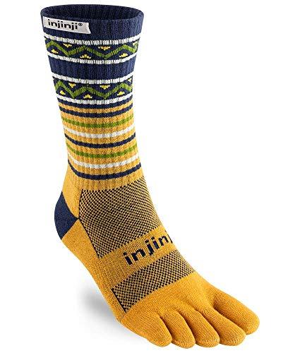 Injinji Trail Crew Xtralife Midweight Socken Dijon Schuhgröße M   EU 40,5-44 2021 Laufsocken