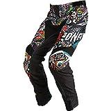 O'Neal | Pantalones de Motocicleta | Moto Enduro | Tejidos duraderos de Denier, con Gran Libertad de Movimiento, Ajuste atlético| Pantalones Mayhem Crank | Adultos | Negro Multi | Talla 48