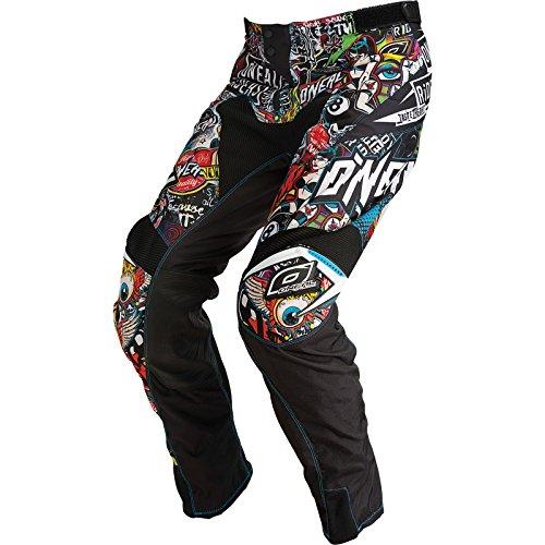 O'Neal | Pantalones de Motocicleta | Enduro Motocross | Tejidos duraderos de Denier, con Gran Libertad de Movimiento, Ajuste atlético | Pantalones Mayhem Crank | Adultos | Negro Multi | Talla 28