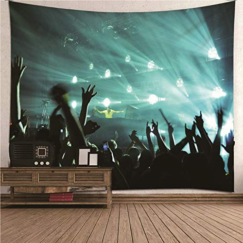 BATOHOME Wandbehang Outdoor,Anatures Strandtuch Rock Konzert Tapestry Colorful, 3D Decorative Wall Panels 300x260CM