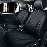 garden mile/® Universal Faux Leather PU Car Seat Covers Air Bag Friendly Full Set Of Racing Style Covers With Head Rest,Front and Back Seat Set,Sports Car Seat Covers Protector,Taxi