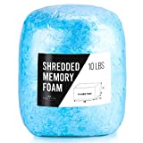 Bean Bag Filler Foam - 10 Pound Premium Shredded Memory Foam - Easy Pillow Stuffing Foam for Dog Bed or Couch Cushion - Very Soft and Great for Stuffing