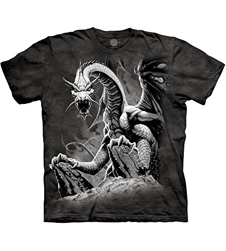 The Mountain Black Dragon Adult T-Shirt, Black, 2XL