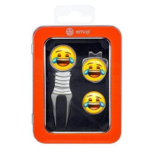 EMOJI Box met Releve Pitch en Happy Golf Ball Marker - Chrome