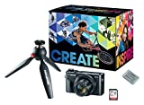 Canon PowerShot  G7X Mark II Video Creator Kit - w/ Manfrotto PIXI MINI Tripod, SanDisk 32GB SD Card, and extra Canon Battery Pack