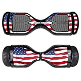 MightySkins Skin Compatible with Swagtron T1 Hover Board Self Balancing Smart Scooter wrap Cover Sticker Skins American Flag