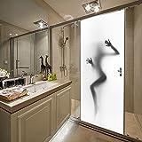 Rocwart 3D Tür Wandbild Aufkleber für Wohnzimmer Kids Baby Kinder Abnehmbare Vinyl Sexy Frauen Tapete Art Home Dekoration 77x 199,9cm Weiß/Schwarz