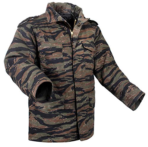 Rothco Camo M-65 Field Jacket, Tiger Stripe Camo, L