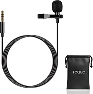 TOQIBO コンデンサーマイク ミニマイク クリップ iPhone/Android/PC用 1.5m長さ 3.5mmプラグ 収納ポーチ