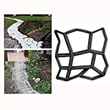 Walk Maker Mould 17x17 inch Pathmate Stone Mold Paving Pavement Concrete Mould Stepping Stone Paver Walk Way