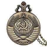 ZHAOXIANGXIANG Reloj De Bolsillo,Vintage URSS Insignias Sovi