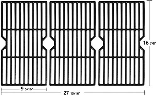 Hongso 16 7/8' Polished Porcelain Coated Cast Iron Gas Grill Grates Replacement for Charbroil 463436213, 463436214, 463436215, 463420508, 463420509, 463440109, 463441312, 463441514 Grills, PCH763