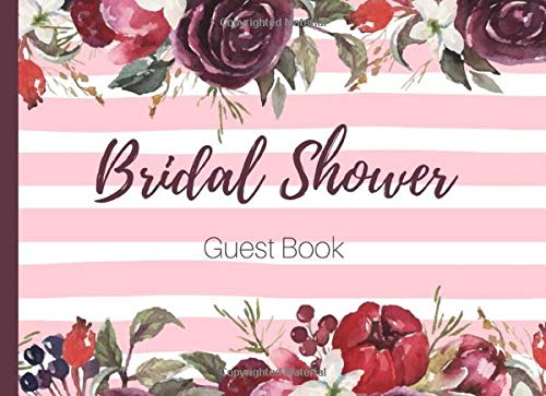 Bridal Shower Guest Book: Red Bouquet I Bachelorette Party Guest Book I Wedding Journal I Gift Log