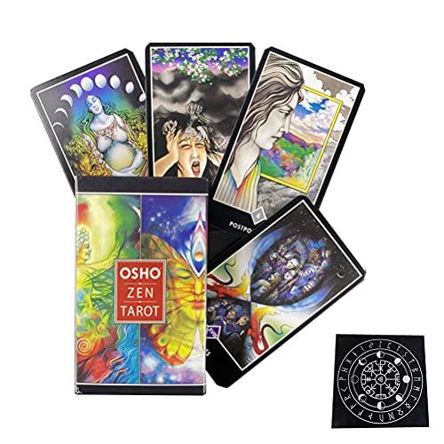 Osho Zen Tarjetas Tarjetas Oráculo Tarjeta Divinación Divinación Entretenimiento Tabla Tablero Deck Games Fiesta Familia Regalo Tarjetas Jugadas,Type 3,Tarot Card