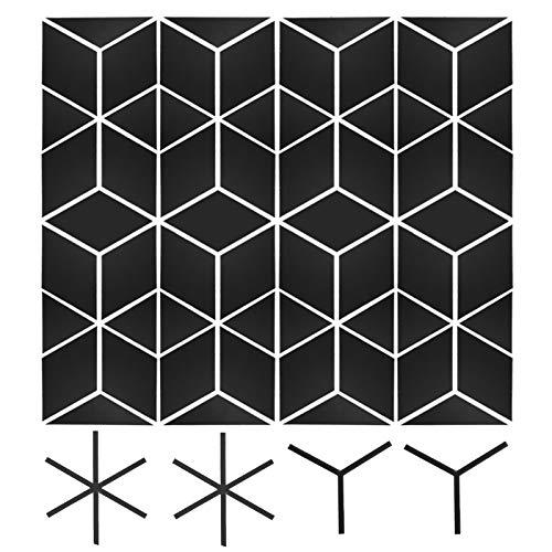 Spegelväggklistermärke, akryl självhäftande spegelväggdekor, sovsalar Handla hemma(Black large)