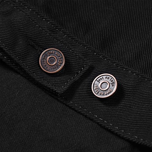 Just No Logo Men's Casual Denim Jacket(Black,US Medium)