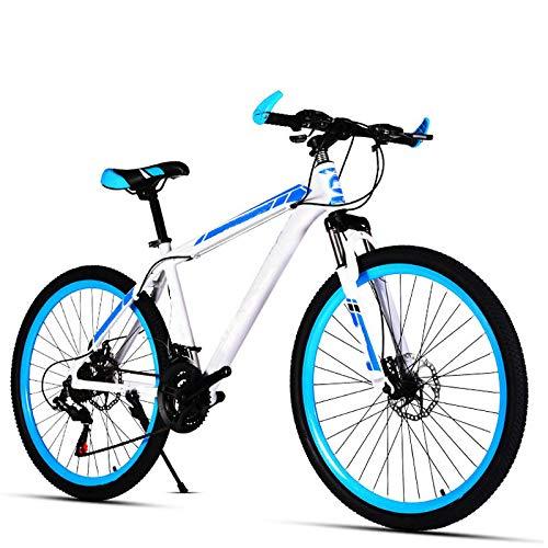 Biciclabile Mountain Bike, 30 velocità 26 inch Variabile velocità dello Shift Doppio Disco Brakes Aluminum Alloy Rim Studenti e Women Spring Fork Low Gear Non Damping