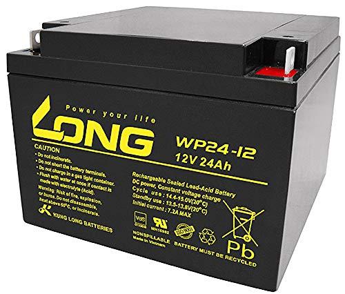 Batería de Plomo WSB 12 V 24 Ah VDS BLEI 12 V 24 Ah AGM voltios Compatible con 26 Ah 28 Ah 30 Ah