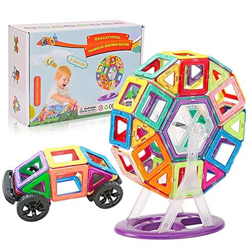 Blocos Magnéticos 68 Peças Brinquedo Educativo Infantil (68 Peças)