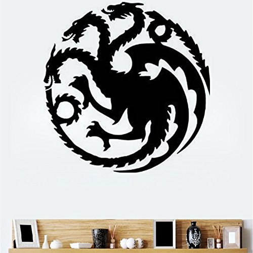 Bureze T-18 Game of Thrones Stickers muraux sculptés Dragon Doré Lian Targaryen