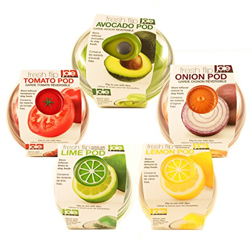 Produce Saver Container Set - Avocado, Tomato, Onion, Lime and Lemon Keeper