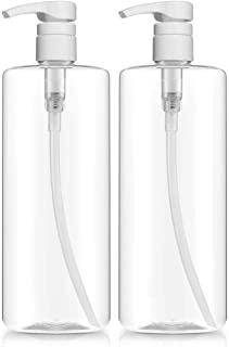 Empty Shampoo Pump Bottles, 32oz(1Liter), BPA-FREE, Plastic (PETE1) Cylinder, Pack of 2
