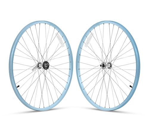 Firmstrong 1-Speed Beach Cruiser Bicycle Wheelset, Front/Rear, Baby Blue, 26'
