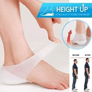Concealed Footbed Enhancers,Silicone Invisible Increase Insoles, Invisible Height Increase Insoles for Men and Women