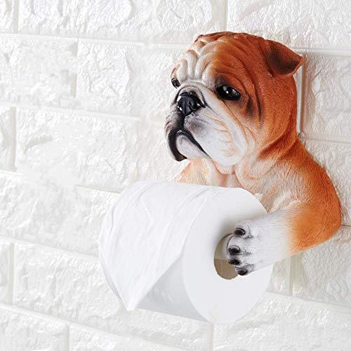 CHUIPP Kreativer Toilettenpapierhalter Handtuchhalter Simulation Hund Badezimmerrollenhalter