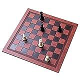 XLYYHZ Juego de Tablero de ajedrez, 33,7x33,7 cm, Viaje Enrollable, Cuero de PU, Juego de Tablero de ajedrez, Juego de Mesa portátil, Juguete para niños, niñas, Juegos Familiares