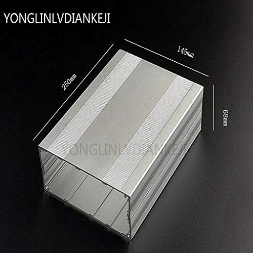 YONGLINLVDIANKEJI Aluminium-Gehäuse, Projekt-Box, Elektronisches Gehäuse für Verstärker PCB Board DIY, 145 x 68-250 mm (B x H x L)