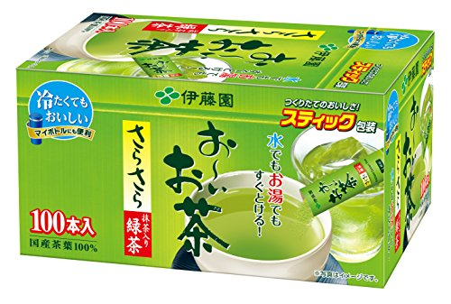 伊藤園 おーいお茶 抹茶入りさらさら緑茶 スティックタイプ 100本入 80g