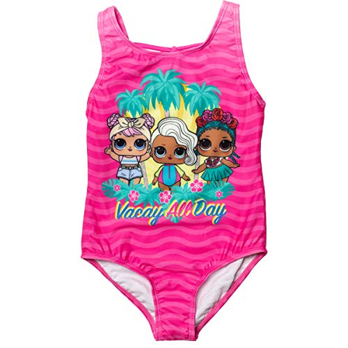 L.O.L. Surprise! Surfer Babe Coconut Q.T. Dawn Little Girls One-Piece Swimsuit Pink 6X