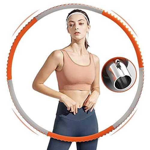 Jubliss Hoola Hoop Reifen für Erwachsene, Fitness Reifen Hoop zur Gewichtsreduktion und Massage, 6 Segmente Abnehmbarer Hoola Hoop Reifen Geeignet Für Fitness/Sport/Zuhause/Büro/Bauchformung (1,25 Kg)