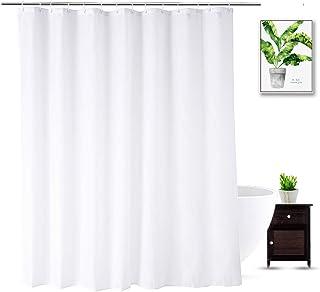 آستر پرده حمام WellColor Extra Wide 84 72 72 اینچ ، پرده دوش پارچه ای برای پرده حمام ، کیفیت هتل ، ضد آب ، سفید