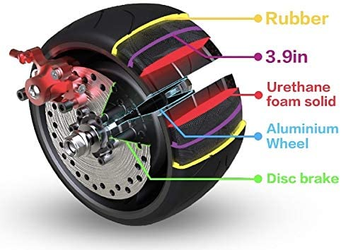Mercane WideWheel Our shop most popular Fort Worth Mall Electric Scooter Tires Replaceable