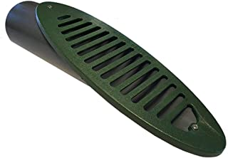 Mitered Drain 4 in. Green Angled Mitered Drainage Grate